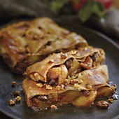 Walnut Apple Raisin Strudel