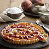 Sour Cherry and Peach Tart