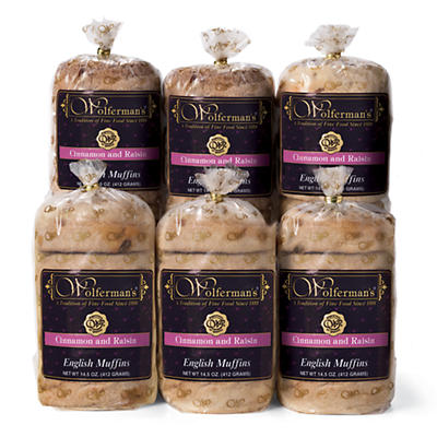 Cinnamon and Raisin Signature English Muffins - Six Packages