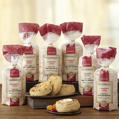Cranberry Citrus Signature English Muffins 6 Packages